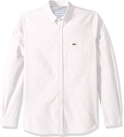 Camisa Ajuste Regular Algodón Para Oxford Blanco Lacoste Hombre De qtUrpt