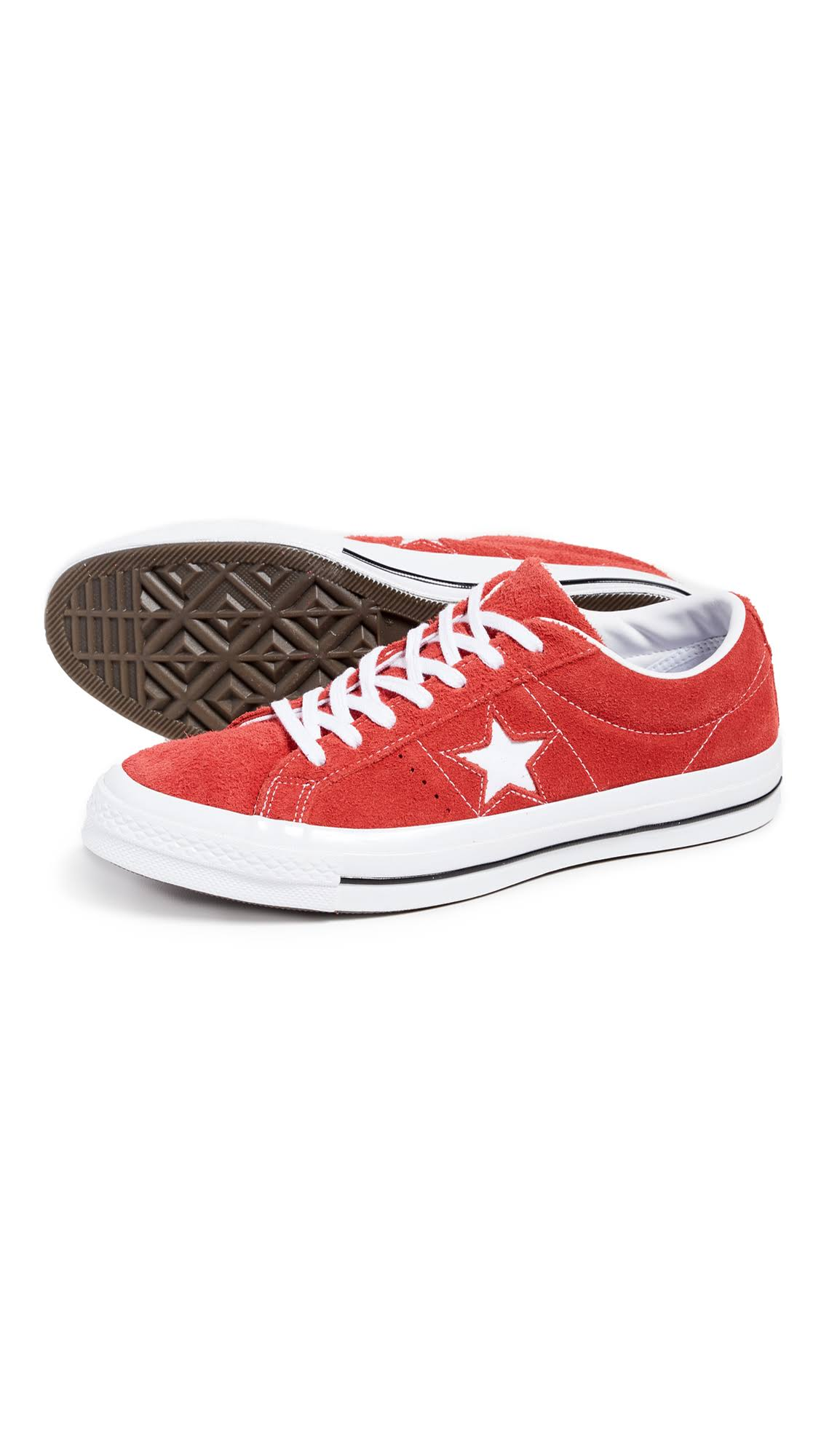 5 One Pelle Converse In Rosse Sneakers Star 9 Scamosciata Basse IWDbeHYE92