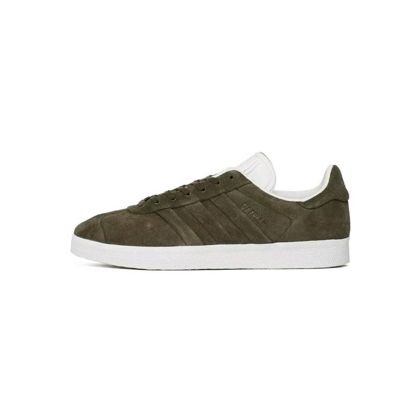 (4.5 (Adults')) ADIDAS GAZELLE STITCH AND TURN TRAINERS GREEN