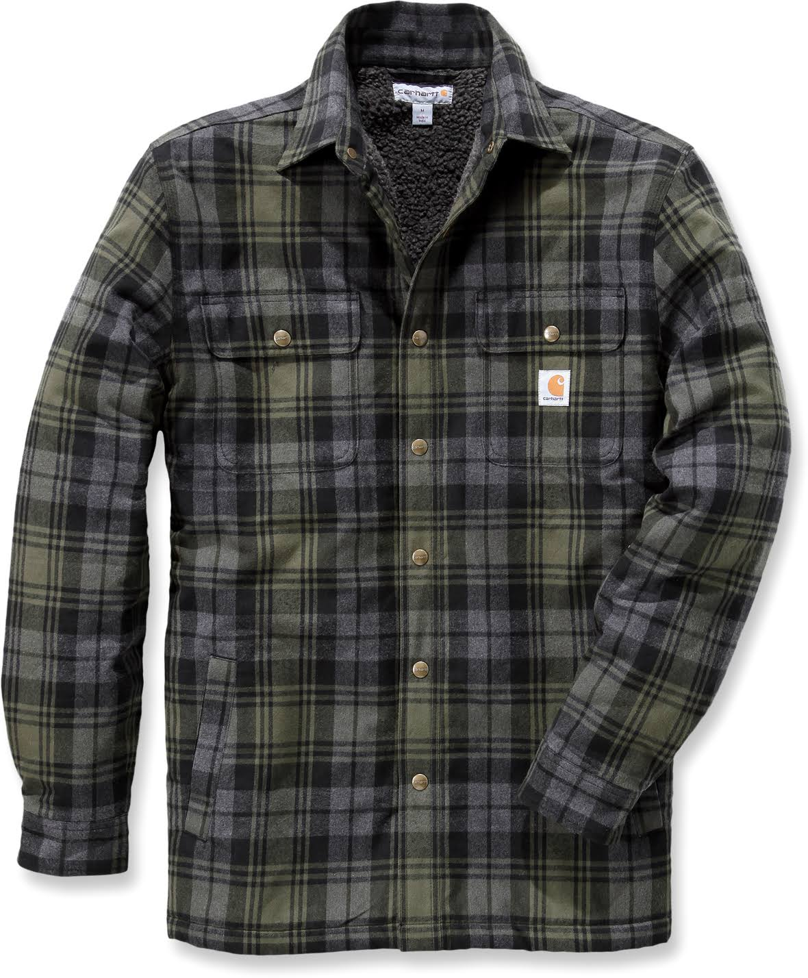 Sherpa De X Forrada Camisa Hubbard Grande Carhartt Ropa Trabajo Musgo q1xOIx