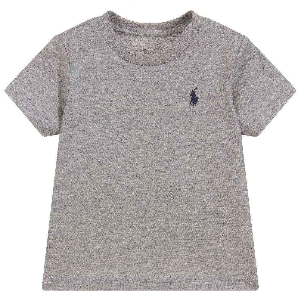 shirt Ralph Baby Lauren in Boys T grigio cotone CBQWrdxeo