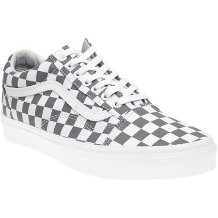 Shoe ~ Old Gris Checkerboard Blanco Skool Vans UfqXzU