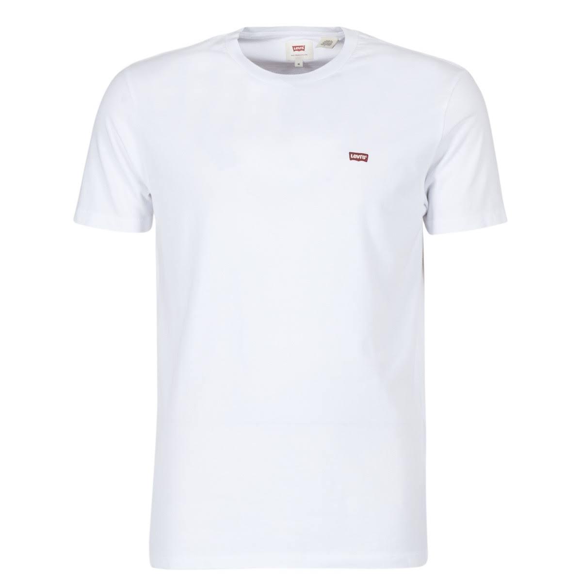 Hombre Levi's Parche Original Y 501 Algodón Básica Blanco Para Tee Camiseta Tamaño Xs wwgxHqZn