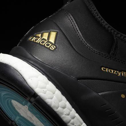 Hombres Dorado Adidas Zapatillas Medio X 5 Para Crazyflight Negro Voleibol 11 8Bx1wYq