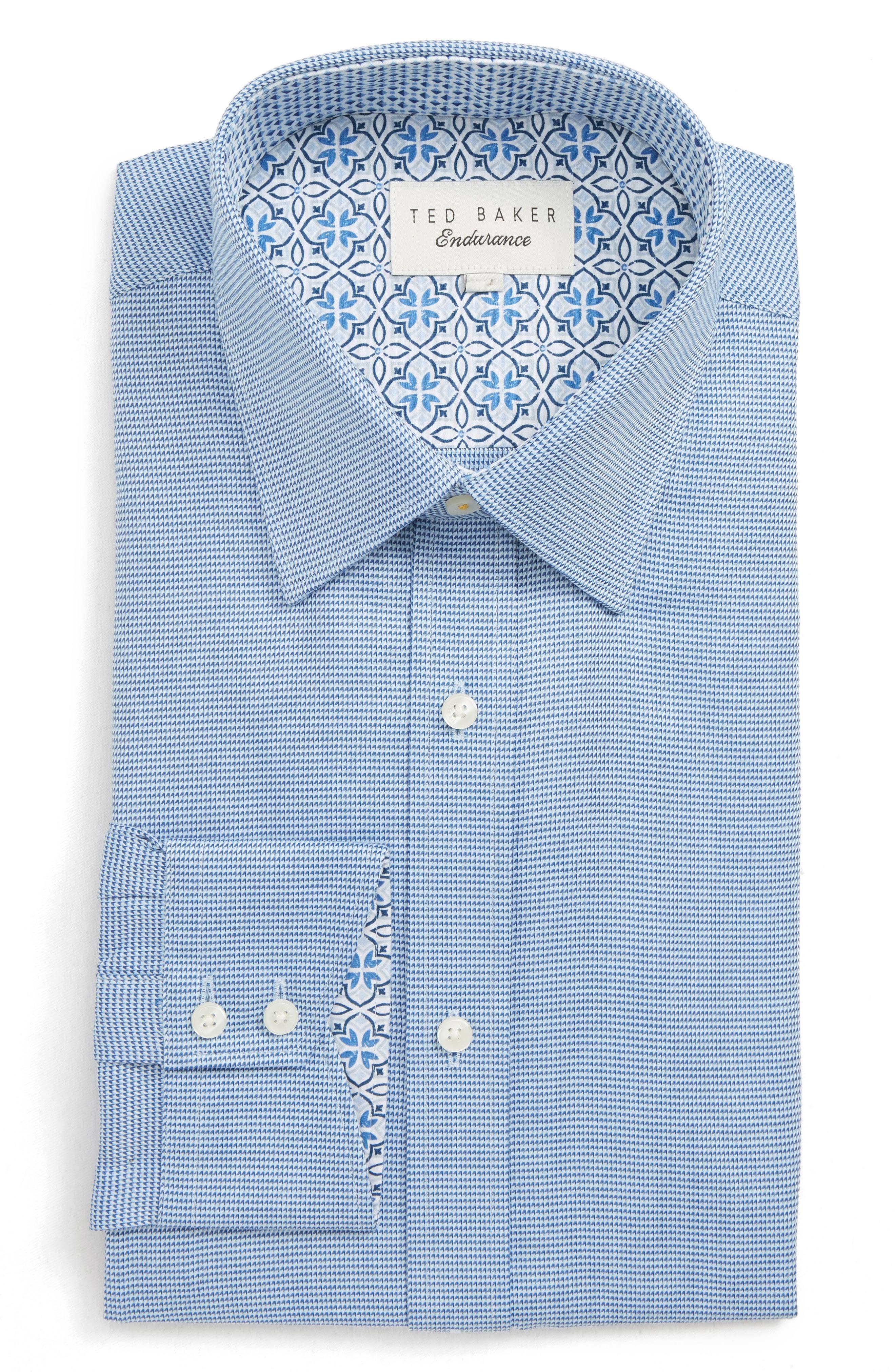 Tamaño London De Para 16 Endurance Camisa Hombre 35 34 Baker Gallo Pata Vestir Azul Ted 0Bd8xdP