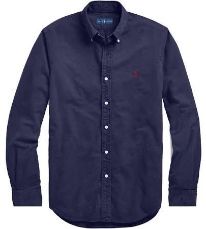 Vêtement De Polo Ralph À Teinte Bleu Ajustée Lauren Chemise Marine Coupe Boutonnée Et vB6q4pwvx