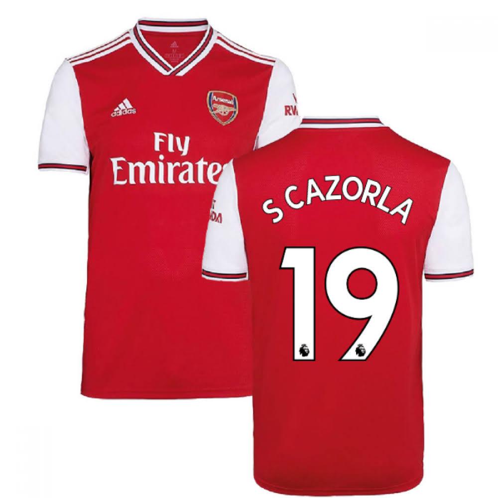 2019-2020 Arsenal Adidas Home Football Shirt (S Cazorla 19)