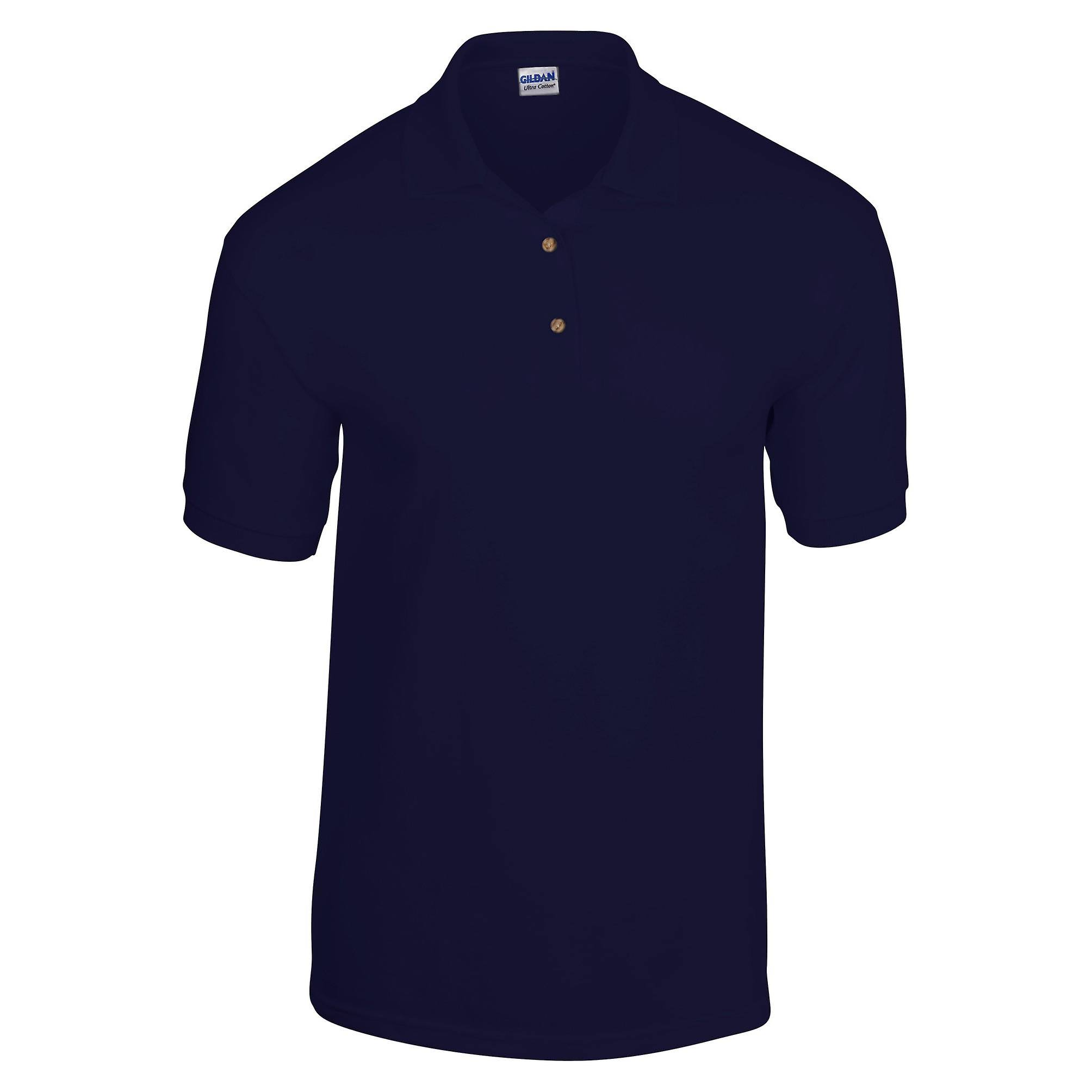 S Polo Manga Marino Gildan Adult Azul Jersey Corta Dryblend tHHZ8p