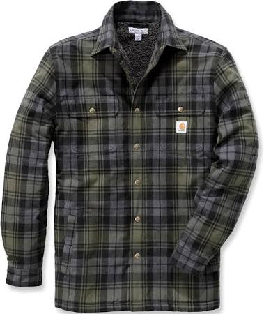 Hubbard Trabajo De Ropa Grande Forrada Carhartt Musgo Sherpa Camisa X qgxqZt