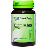Vitamin B12 1000 mcg, 60 kapslar - Great Earth - tillskott-näringstillskott