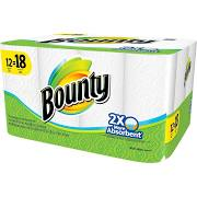 Bounty White Paper Towels 12 Giant Rolls