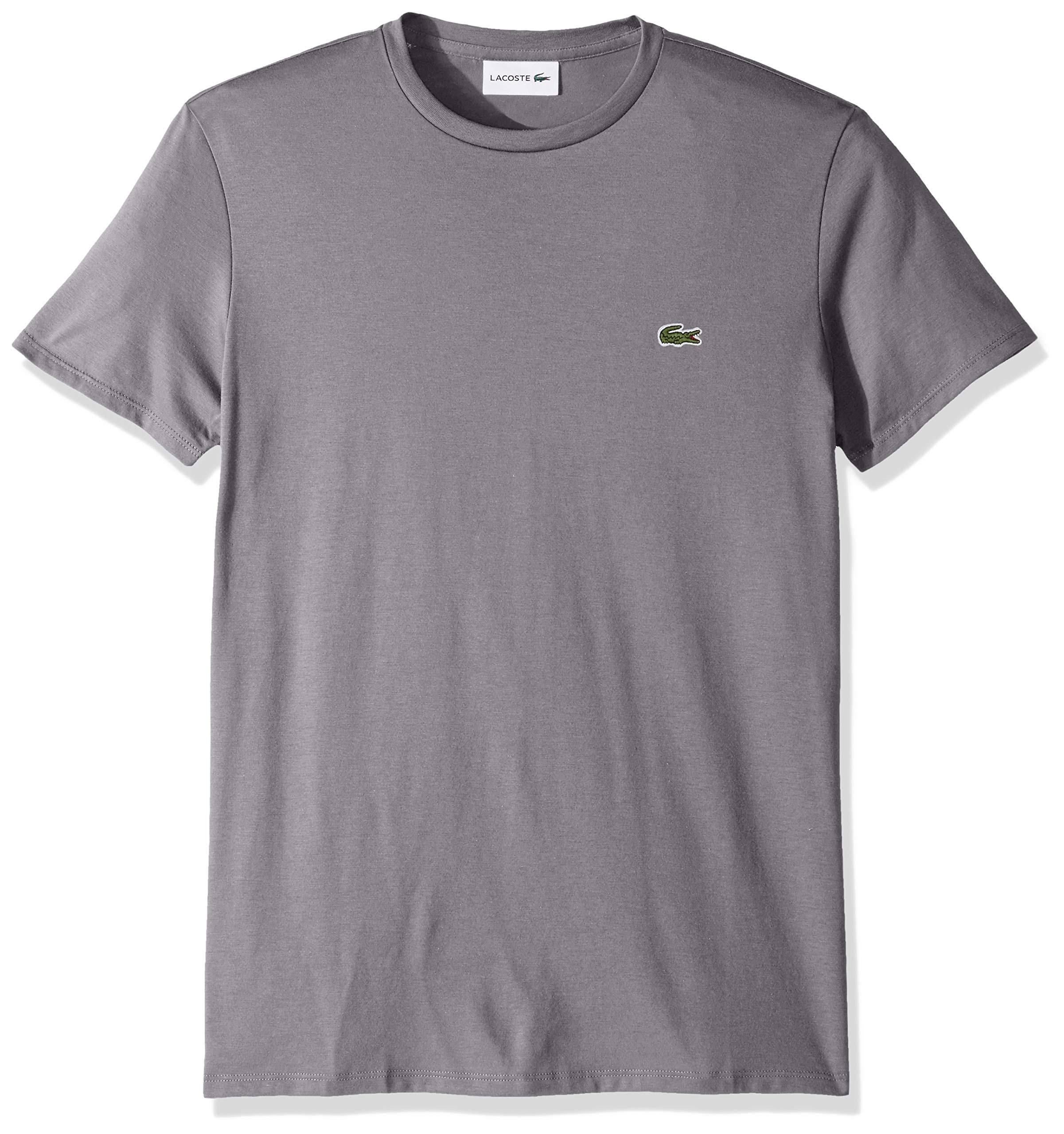 Pima shirt Lacoste Herren S Dunkelgrau T Crewneck HqEBq