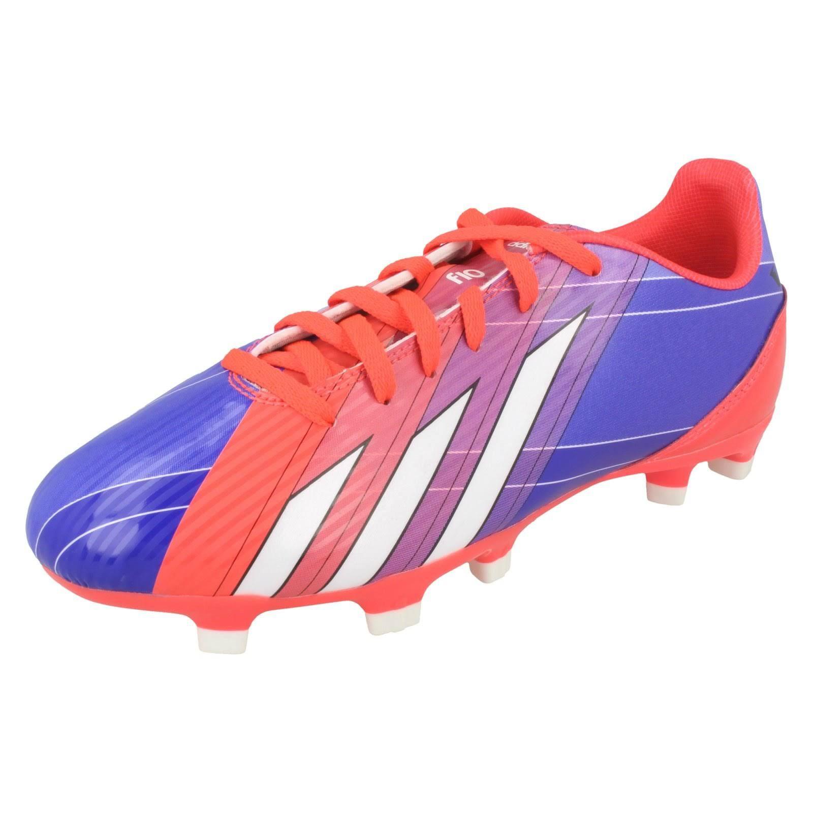 (UK 4.5, Turbo/Black 1/Runwht (Red)) Boys Adidas Lionel Messi Football Boots F10 TRX FG J