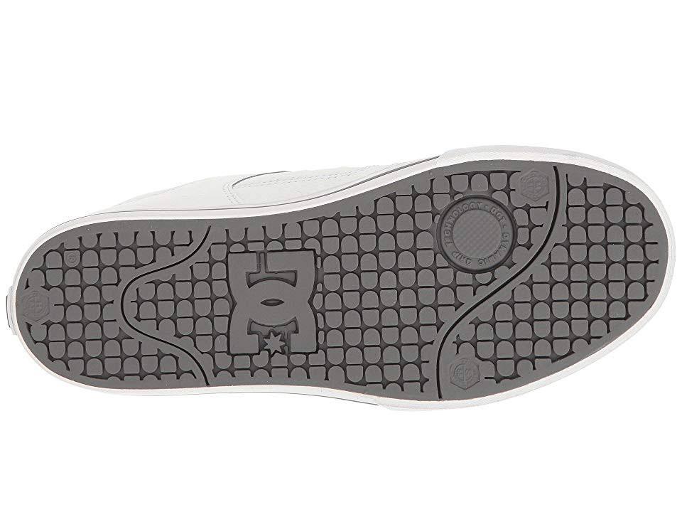 Dc Skate Round Blanco hbw Men Toe 300660 Pure De Shoes Cuero r4qr8Fw6Z