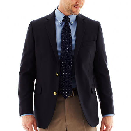 Hopsack Stafford Blazer Regular Executive Classic Size Men's 40 Black Black H4q54wA