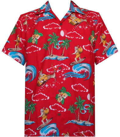 Weihnachts Aloha weihnachtsmann Hawaiischen Hemd Des männer feiertags party strand AraqnRAz