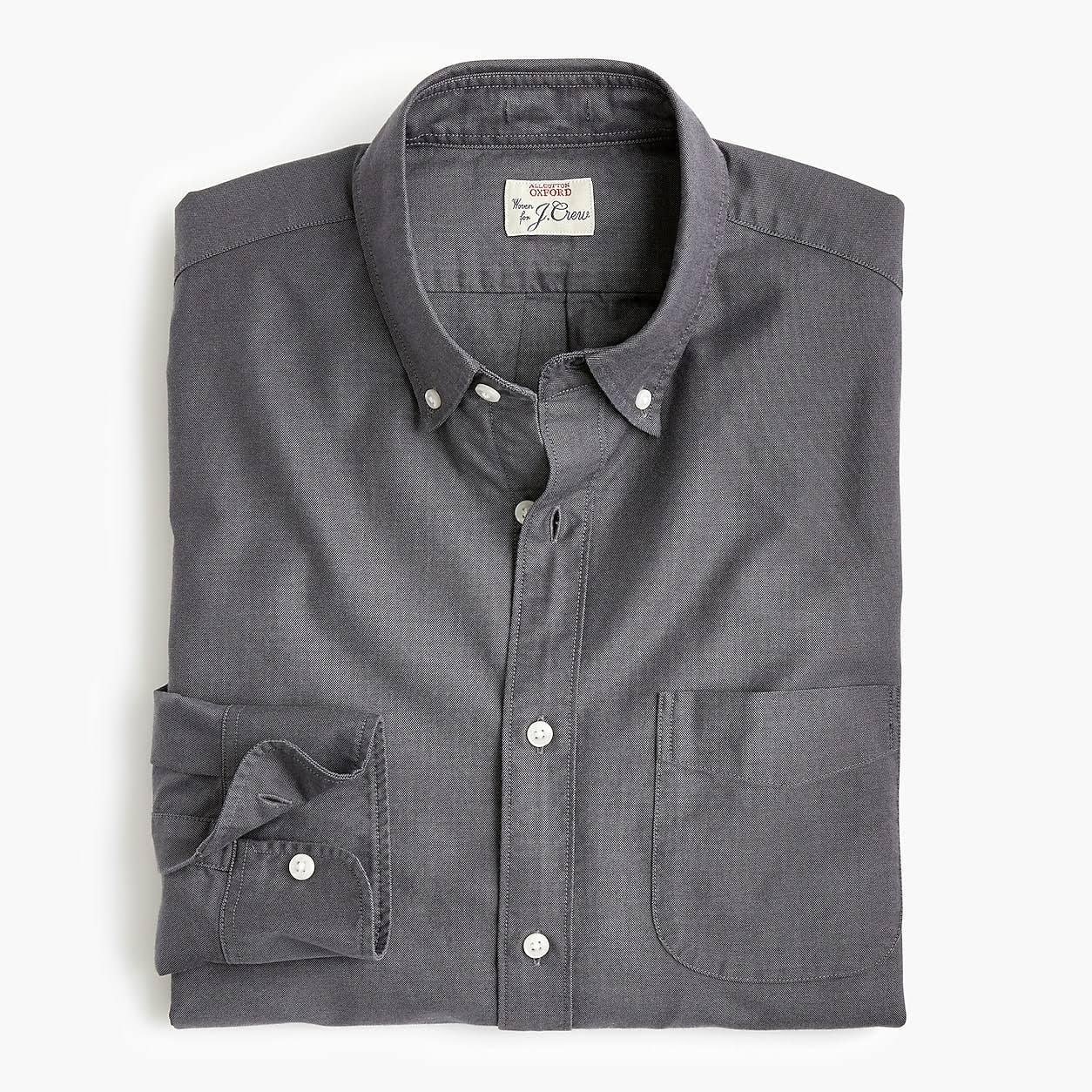 Estiramiento Mens crew Oxford Untucked Con Camisa Mediano Algodón De American J tamaño Mecánico gzxHqgw