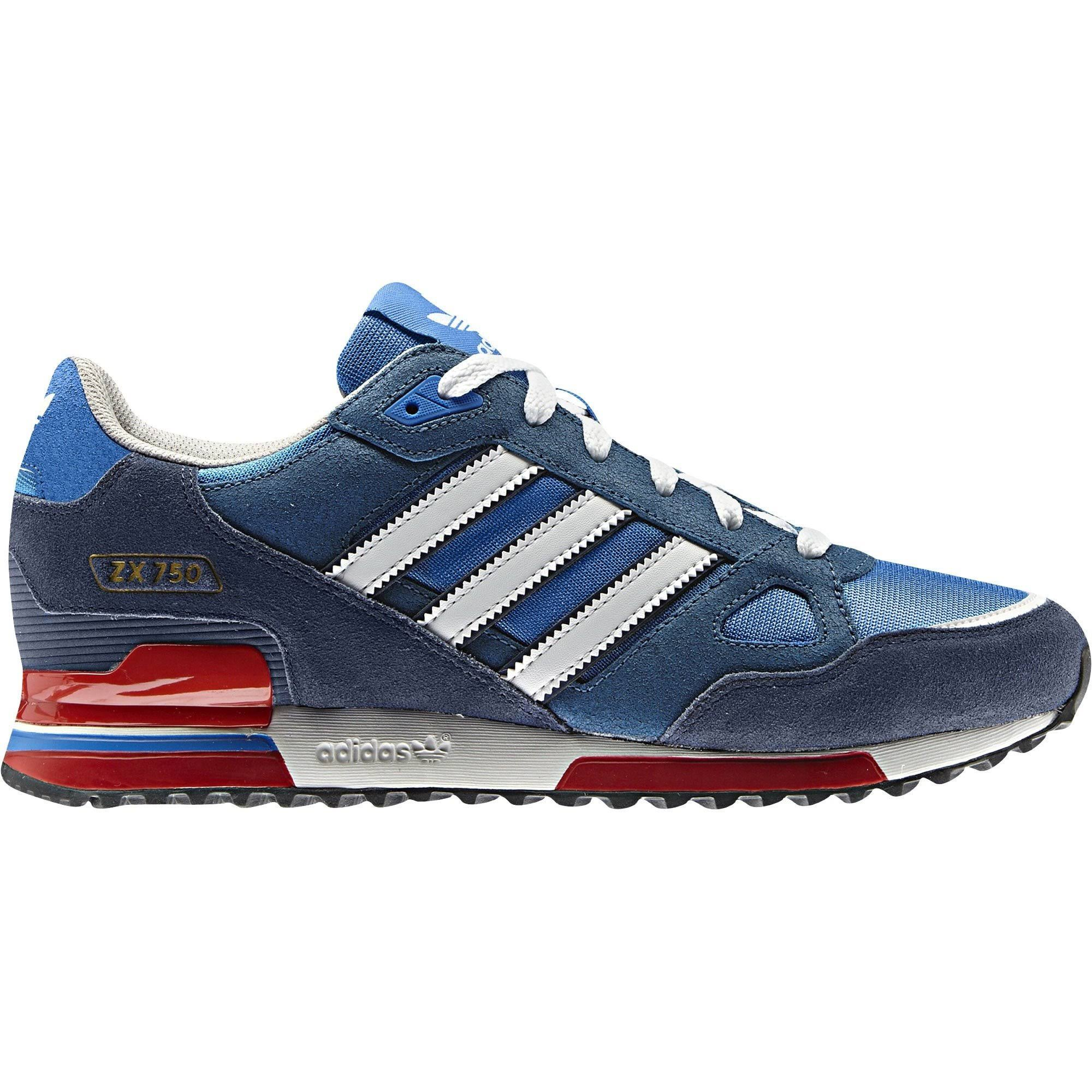 (9) Adidas Originals ZX 750 - Blue