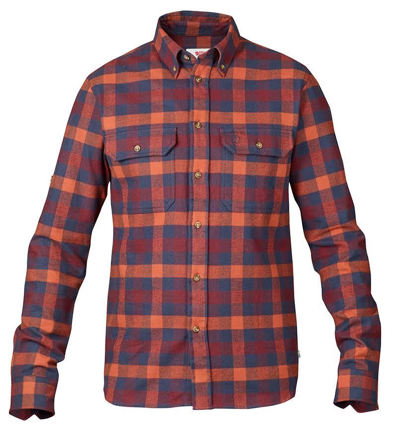 1 Negro Camiseta Hombre Plaid Forest Fjallraven qaHwRa