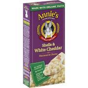 Annie's Homegrown Macaroni & Cheese, Shells & White Cheddar - 6 oz box