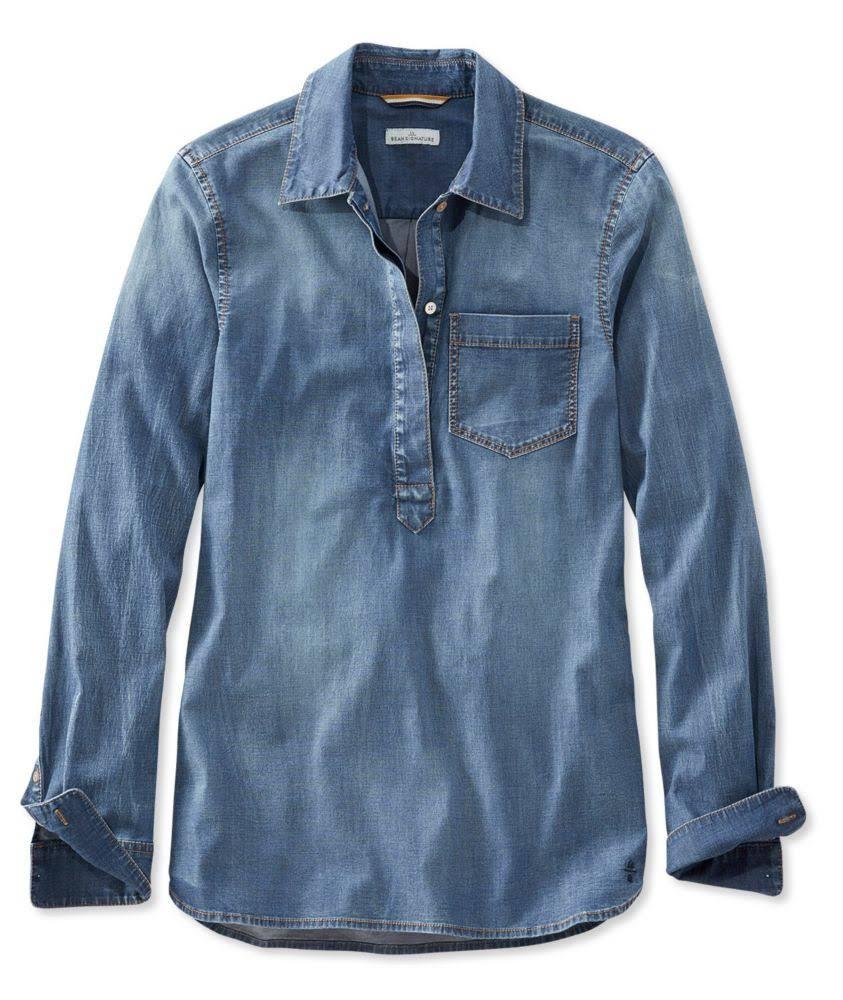 Mujer Camisa bean l Signature De Mezclilla Xxs Stretch Azul Pequeña L Extra rnvSnzIxW