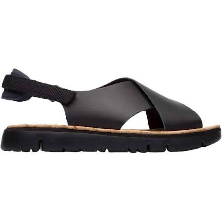 Camper Adult Oruga Black Leather Strap Sandals  kTYGVv