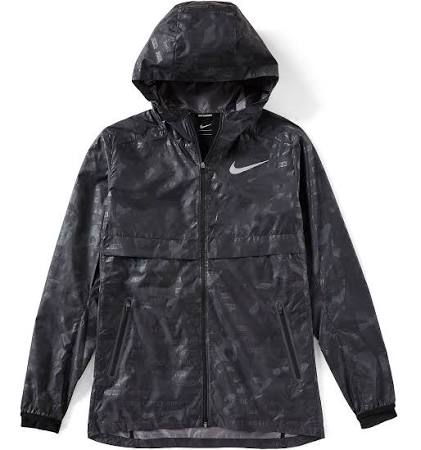Negro Ghost Jacket Shield Reflectante Hombre Nike Camo Plata Xw6qwv