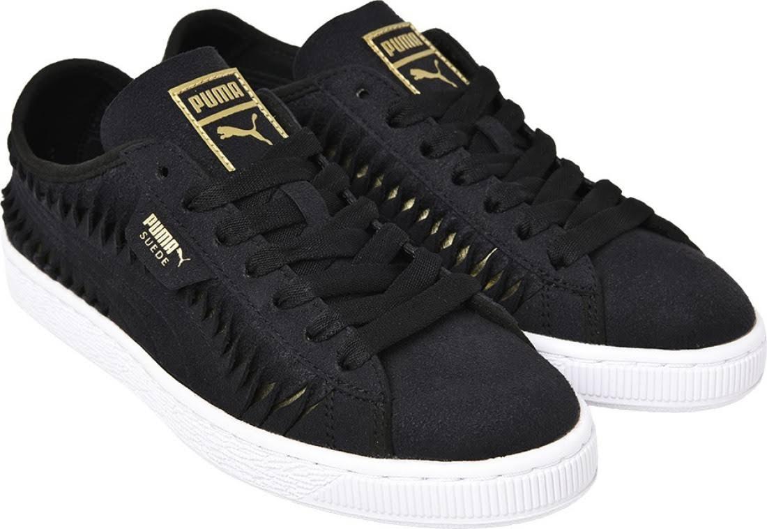 Cordones Negros Con Puma Recortes Paneles azul Zapatos De Deportivos SgR7vqPqwF