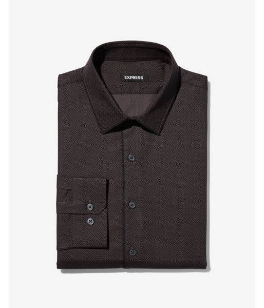 Hombre S Vestir De Estampada Y Camisa Delgada Negro OqwfHB