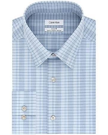 15 Size 34 Slim Blue Calvin 35 Klein Herren Kariertes 5 Delft Businesshemd xnqwx0H8vA