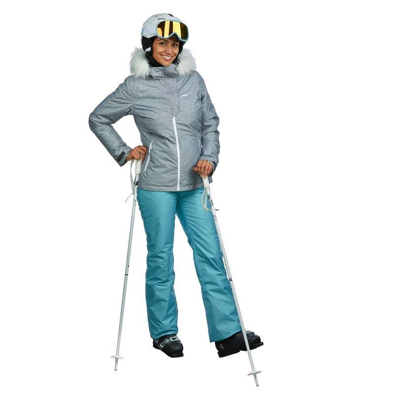 Mujer L Para Esquí Descenso Ski Gris 150 De p Chaqueta qzT6wIt6