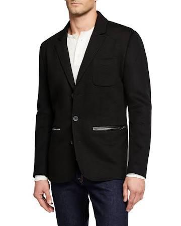 Hombres Karl Lagerfeld Textura Negro Chaqueta Cremallera Con Para Bolsillos C1qZgAw