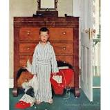 "'Discovery' by Norman Rockwell Painting Print on Wrapped Canvas Marmont Hill Size: 29"" H x 24"" W"