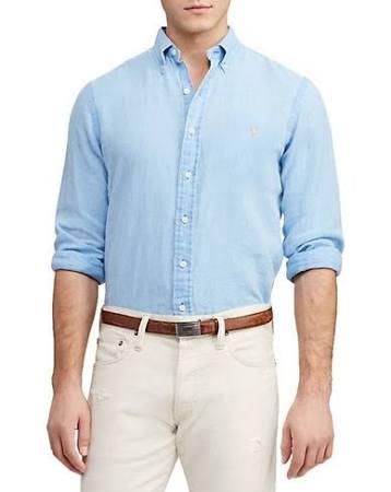 Y Hombre Polo Camisa Azul Xxl Con Clásico Para Ajuste Lauren Tamaño Botones Ralph XwUw4HqZ