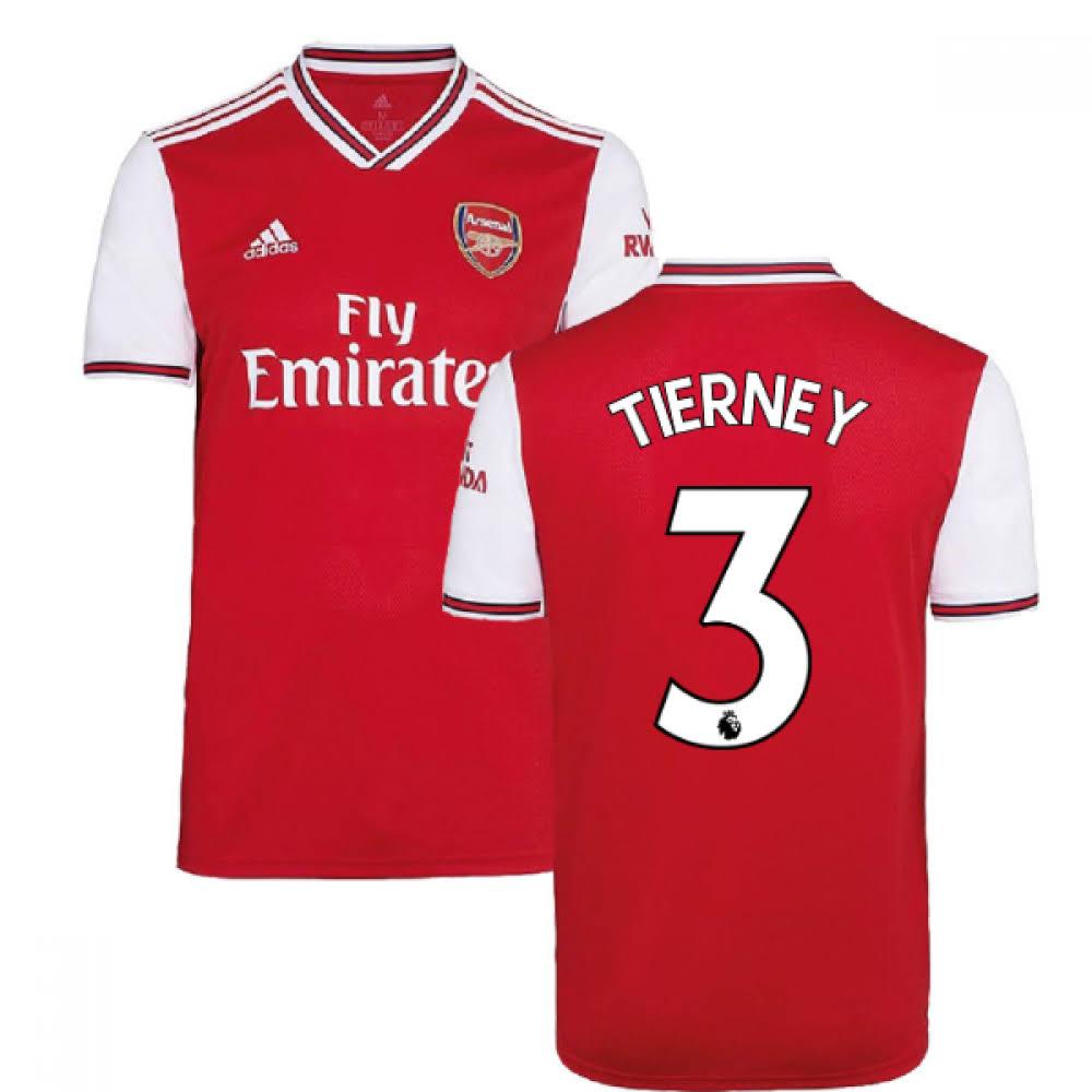 2019-2020 Arsenal Adidas Home Football Shirt (Tierney 3)