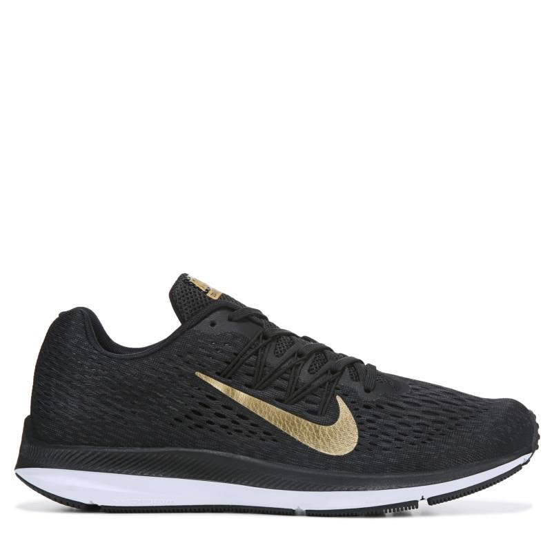 5 NikeDonna Scarpa Da Corsa Winflo Air NeroOro Zoom by6vYfg7
