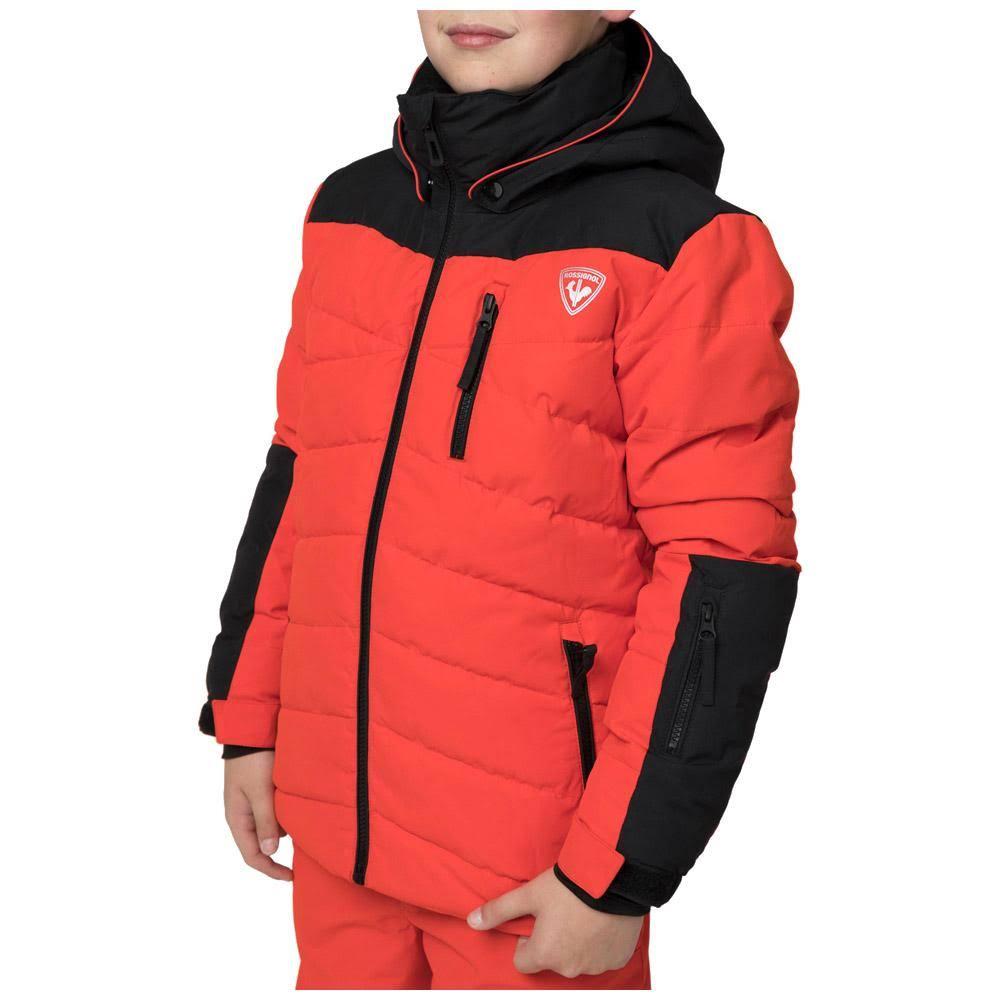 Rot Rossignol Kinder Skijacke Polydown Schwarz Für FaxgHaqI