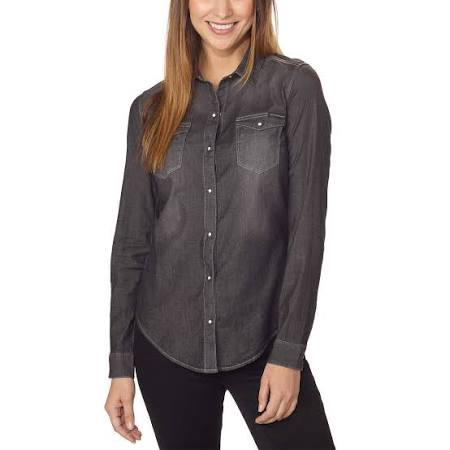 Jeans Calvin M Klein Talla Vaquera Para Negro Mujer Camisa tqn1fvw