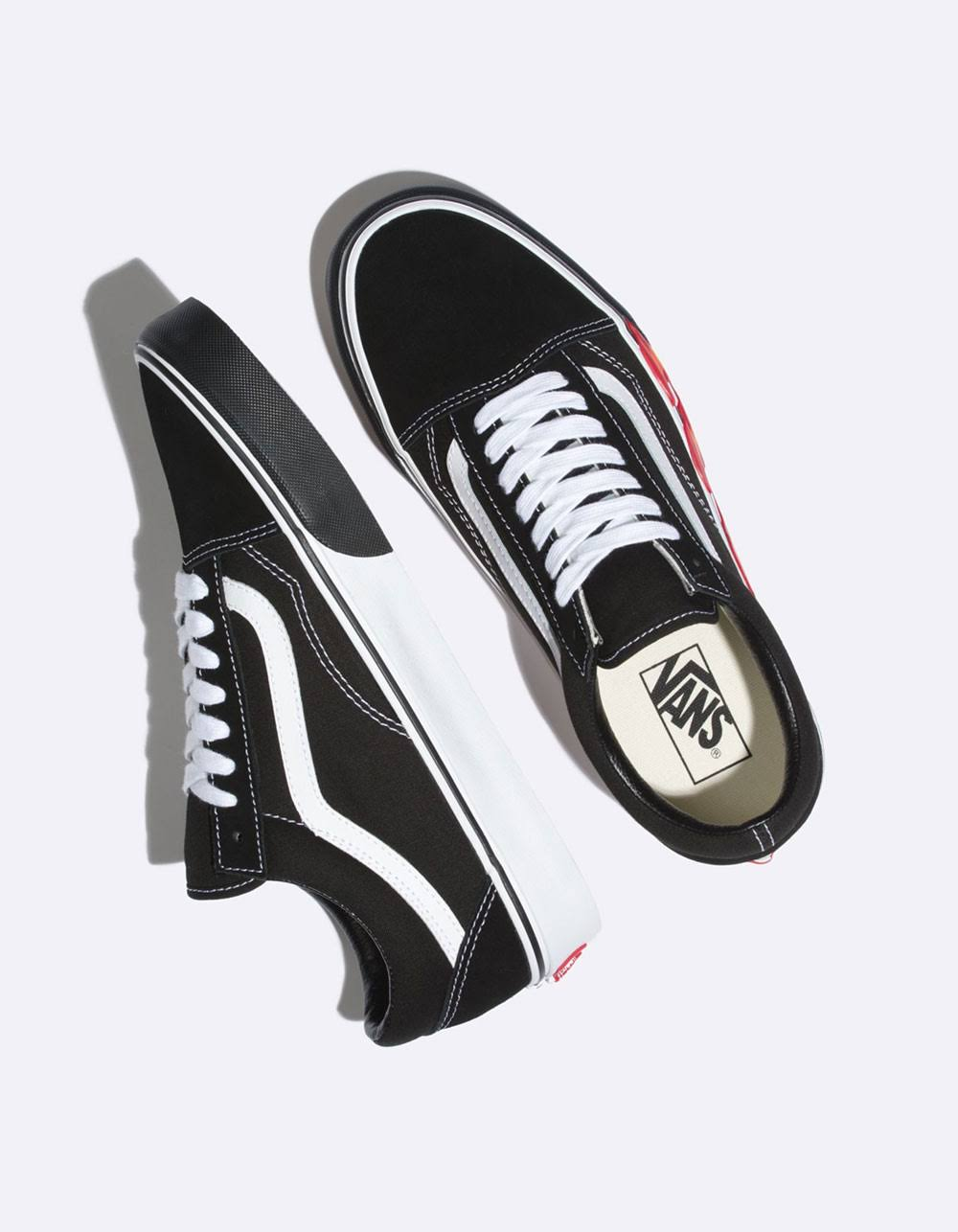 Vans Zapatos Skool Flame Combo Out Viejos Cut 5 Negro tqItxwTr