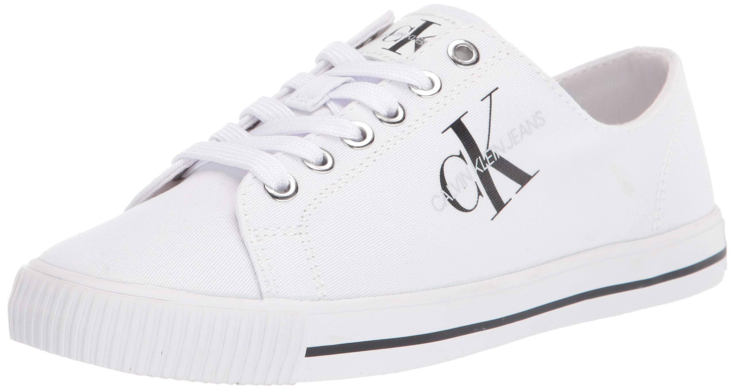 Calvin Klein - Twill Trainers - White - 2 - Women