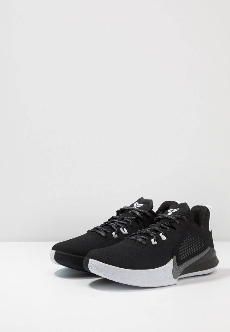 Nike Performance Mamba FURY Basketball shoes black/smoke grey/white, gender.adult.male, Size: 3.5, Black - Synthetics/textile