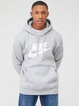 Nike Grey Fleece Sportswear Club Hoodie