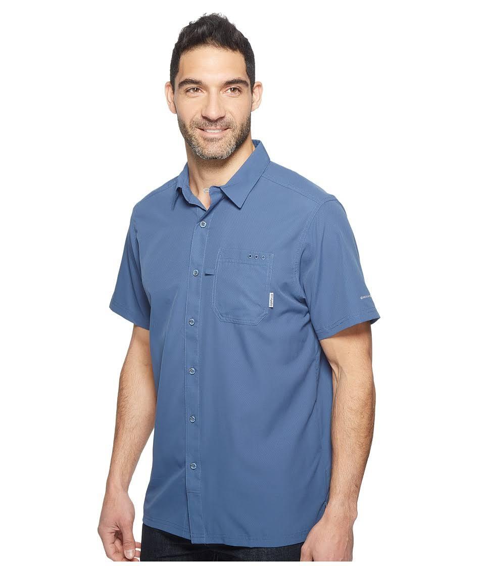 M Tide Columbia Camp Pfg Grau Blau Shirt Slack Herren 77wgYt