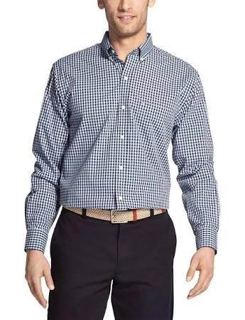 Shirt Herren Rundhalsausschnitt Langarm Regular Mit stretchhemd Izod Gingham YRaFqUxx