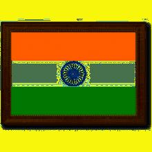 "Spot Color Art India Country Flag Framed Print on Canvas Medium 25""-32"""