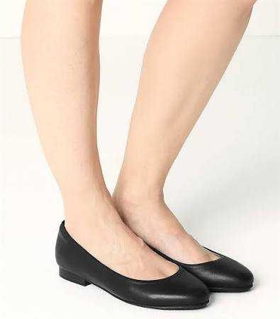 Women's Wide Fit Leather Pumps - Black - 7.5  UOeOH8