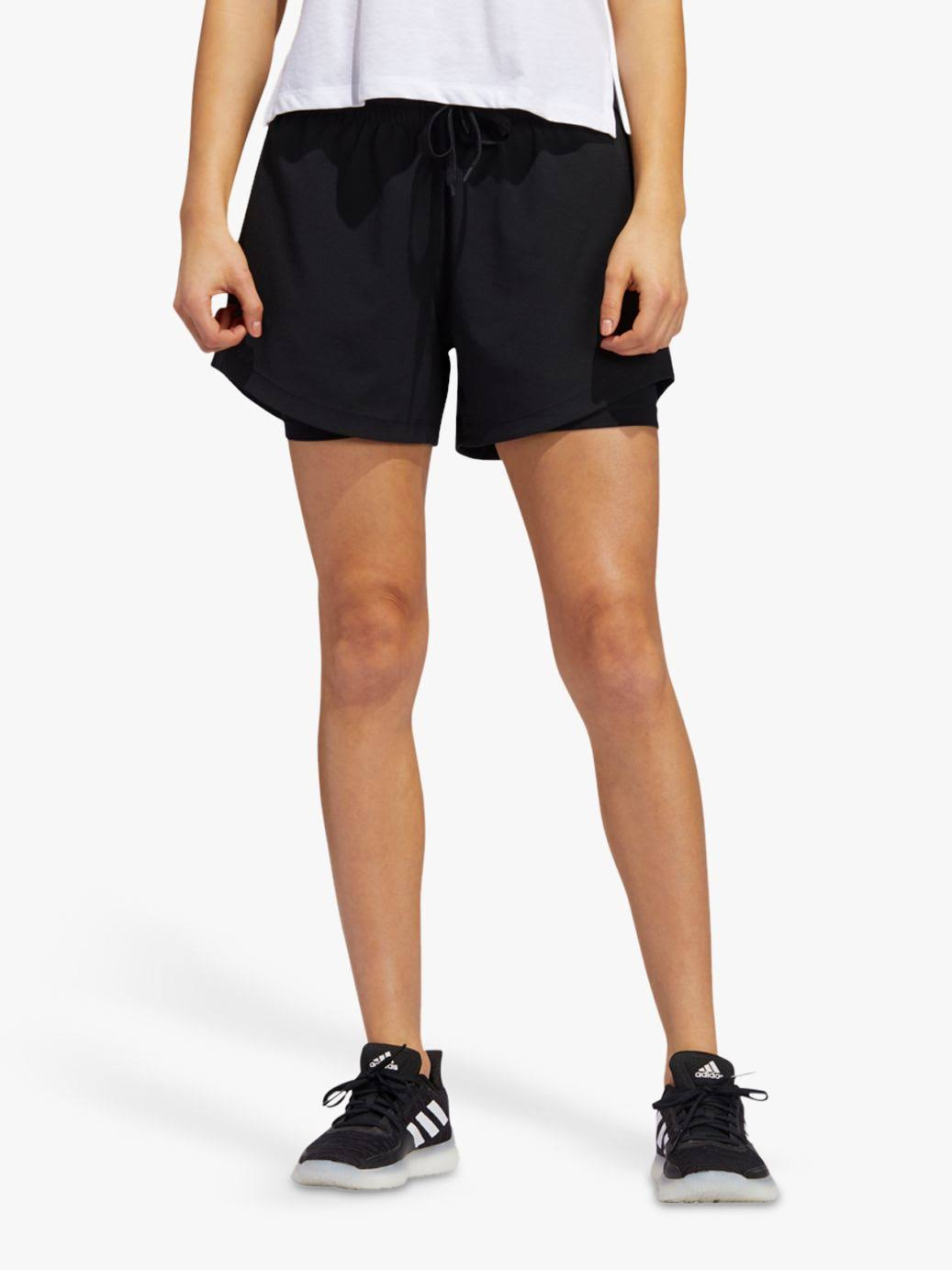 Adidas Two-in-one Shorts - Women - Black - 2XS