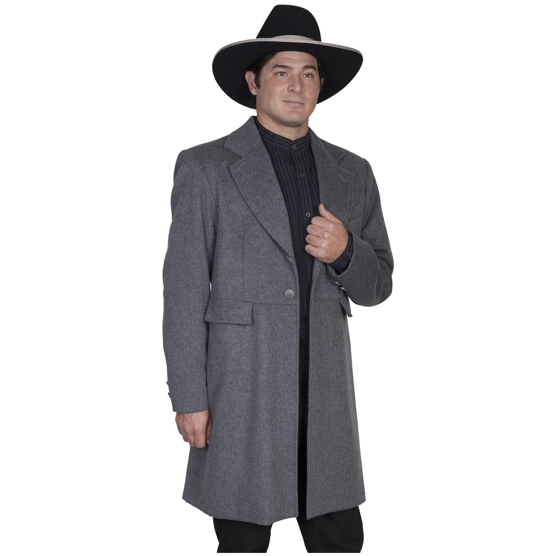 Scully Poliéster 520929 Vestido Lana Regular Charcoal Western Coat Botón Hombre RW0qrRIg