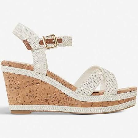 Dune Kelisa faux-leather wedge sandals  XhTpah