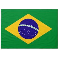 Bandiera Brasile 100x150 cm da bastone